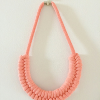 Peach Infinity Weave Necklace