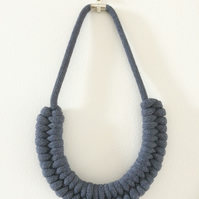 Denim Infinity Weave Necklace