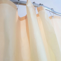 extra wide Natural Organic Cotton Calico Shower Curtain,