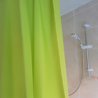 Lime Green Organic Cotton Shower Curtain, washable non-waxed