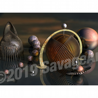 Steampunk Metal Wire - Still Life Photographic Print