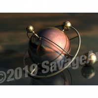 Steampunk Metal Ball - Still Life Photographic Print
