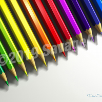 Row of Pencils - Abstract Photographic Print