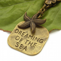 Bag charm purse charm Dreaming of the sea