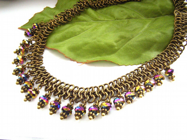 Necklace chainmaille beads