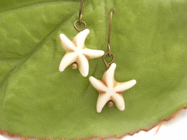 Starfish summer beach earrings