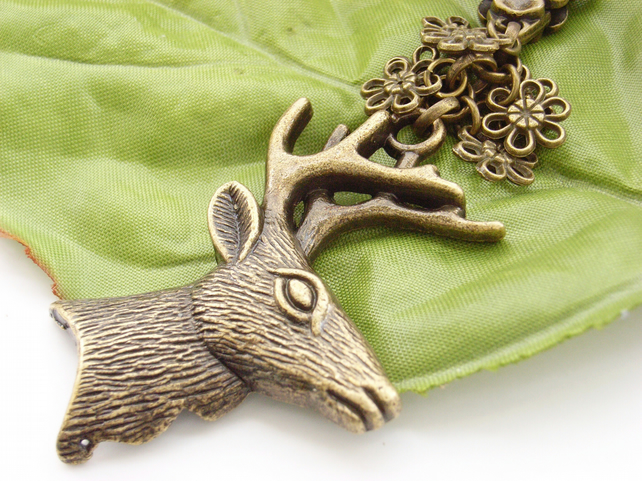 Deer or stag bag charm