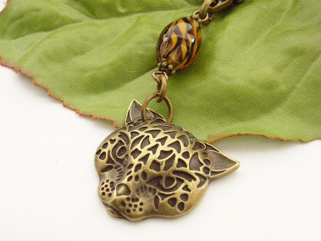 Big cats leopard tiger bag charm