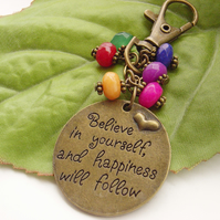 Stamped affirmation charm Believe in yourself
