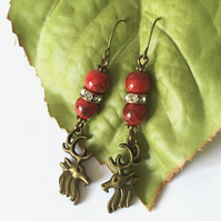 Stag earrings