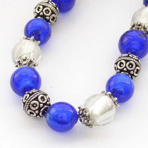 Glass necklace Bali beads