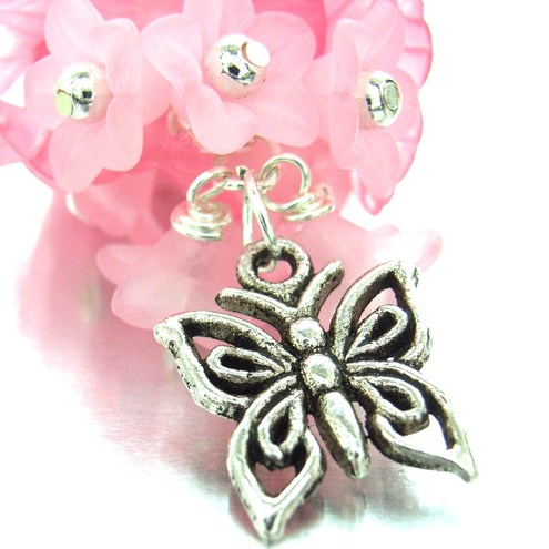 Bag charm or purse charm butterfly