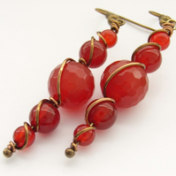 Gemstone earrings carnelian