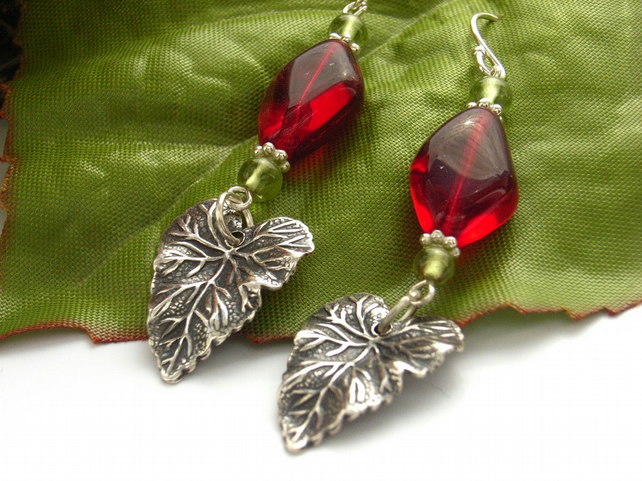 Autumn leaves Leaf earrings