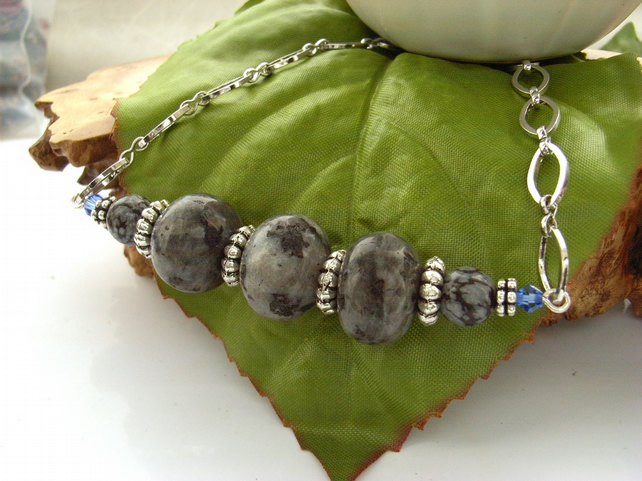 Grey and silver necklace