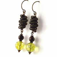 Vintage style earrings peridot