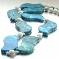 Bold blue gemstone necklace