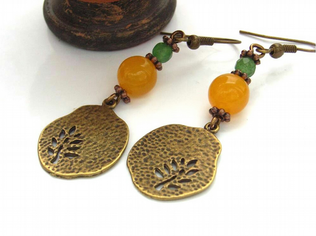 Tree charm earrings