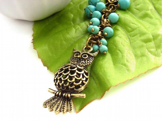 Owl handbag bag or purse charm