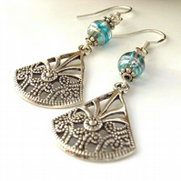 Silver charm earrings