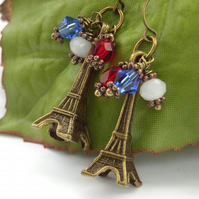 Eiffel tower crystal earrings