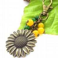 Sunflowers bag charm