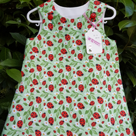 Ladybird cotton dress. Age: 2-3 years.