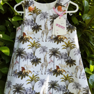 Safari pattern cotton dress. Age: 1-2 years.