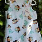 White princess pattern cotton dress. Age: 2-3 years.