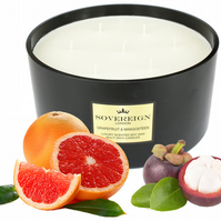 7 wick 2kg Extra Large Luxury Scented Soy Multiwick Candle with Grapefruit
