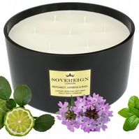 7 wick 2kg Extra Large Luxury Scented Soy Multiwick Candle with Bergamot