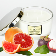 Triple 3 wick 410g Large Luxury Scented Soy Multiwick Candle with Grapefruit