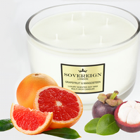 5 wick 1.3kg Extra Large Luxury Scented Soy Multiwick Candle with Grapefruit