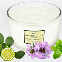 5 wick 1.3kg Extra Large Luxury Scented Soy Multiwick Candle with Bergamot