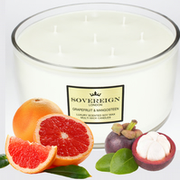 7 wick 1.9kg Extra Large Luxury Scented Soy Multiwick Candle with Grapefruit
