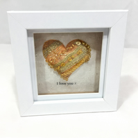 gold heart, heart, gold love heart, I love you, wedding gift