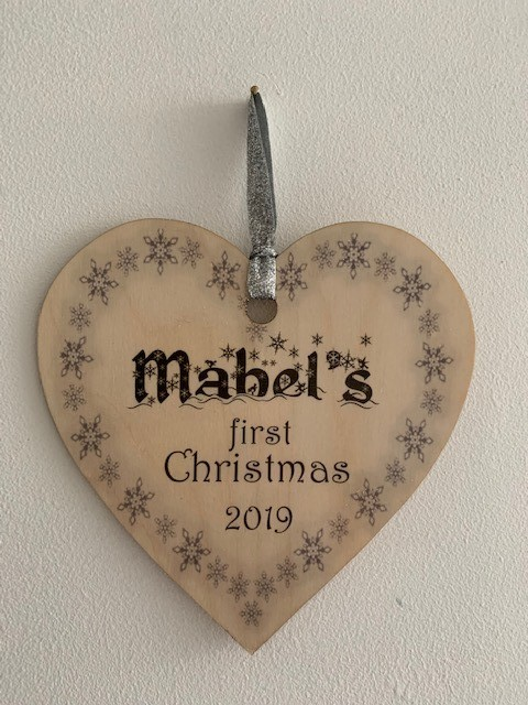 Baby's first Christmas Heart