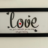 LOVE was just a word Frame