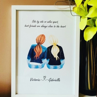 Best Friends A4 Personalised Frames