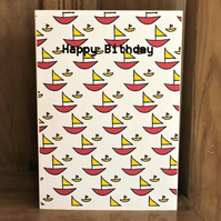Boat Greetings Birthday Card - Eco-Friendly