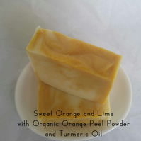 Sweet Orange and Lime with Organic Orange Peel Powder and Turmeric Oil