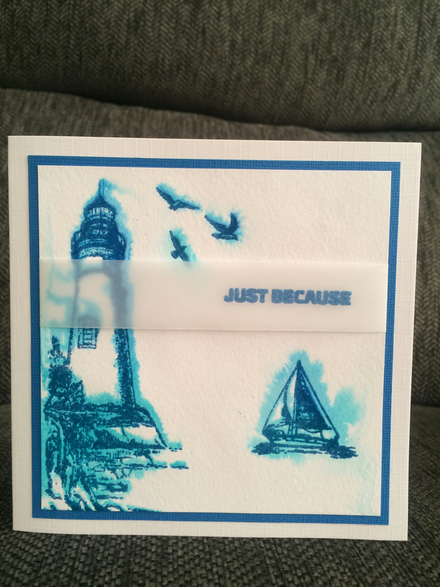 Lighthouse 'just because' card