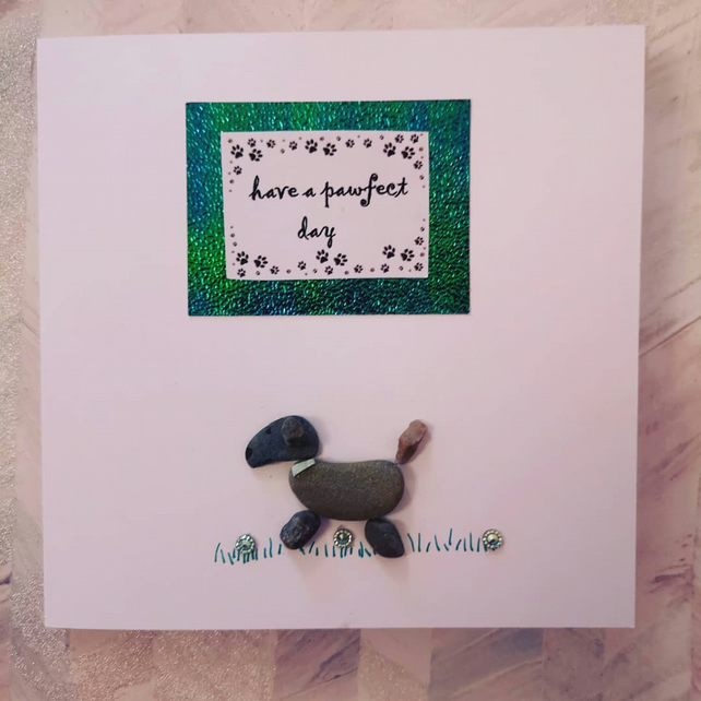 Pebble Art Birthday Card To Or From The Pets C