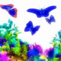 Butterflies, Meadow Greeting Card