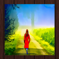 Walking Amongst the Trees, Greeting Card