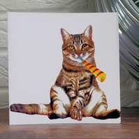 Cat Greeting Card, Funny