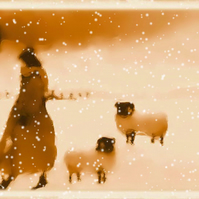 Christmas Card, A Walk in the Snow