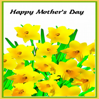 Daffodils Mother's Day Card