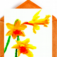 Daffodils Greeting, Birthday Card