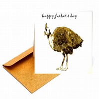 Unusual Guinea Fowl Father's Day Card  - FREE POSTAGE